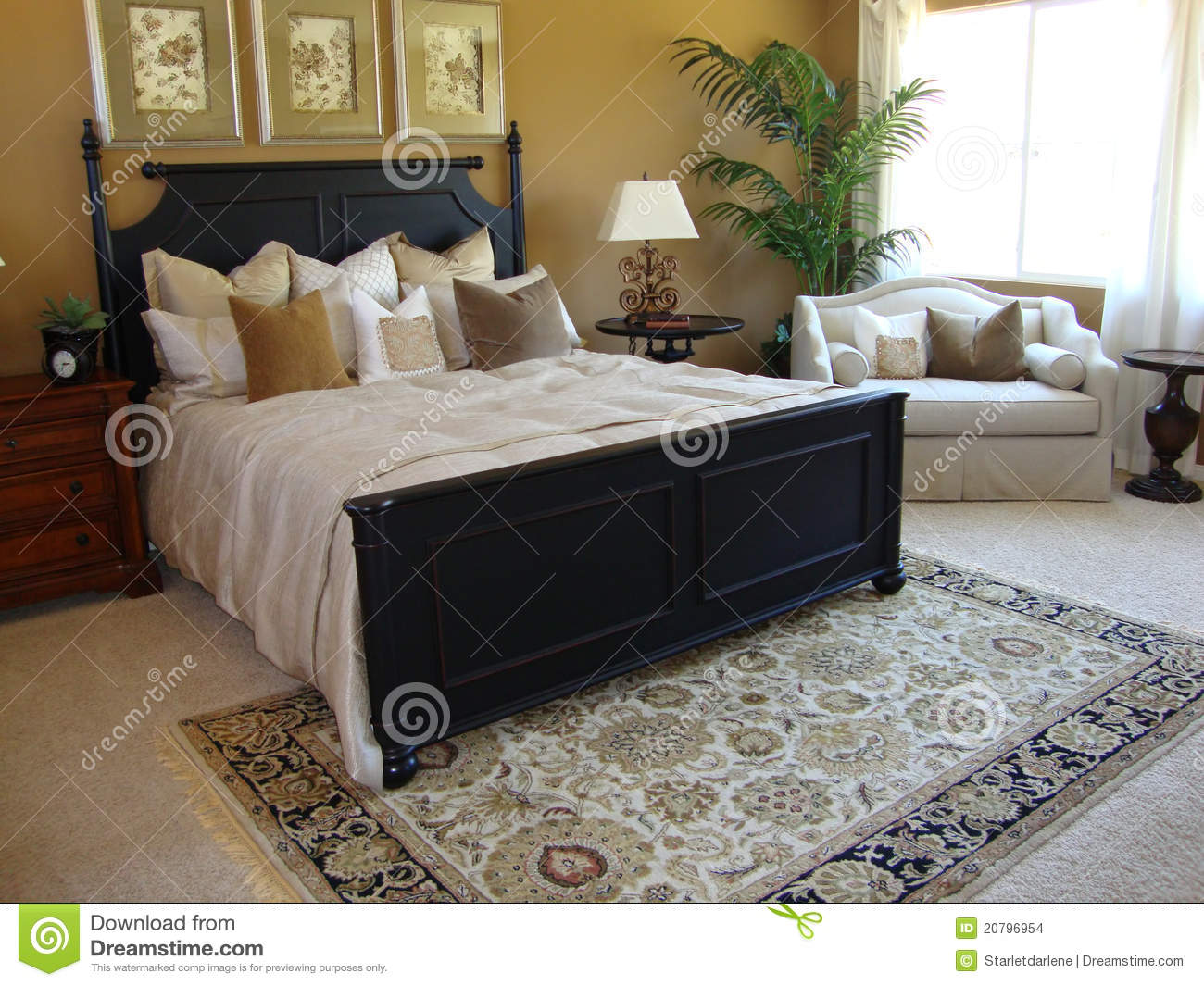 Beautiful Master Bedroom Suite Stock Photo Image Of