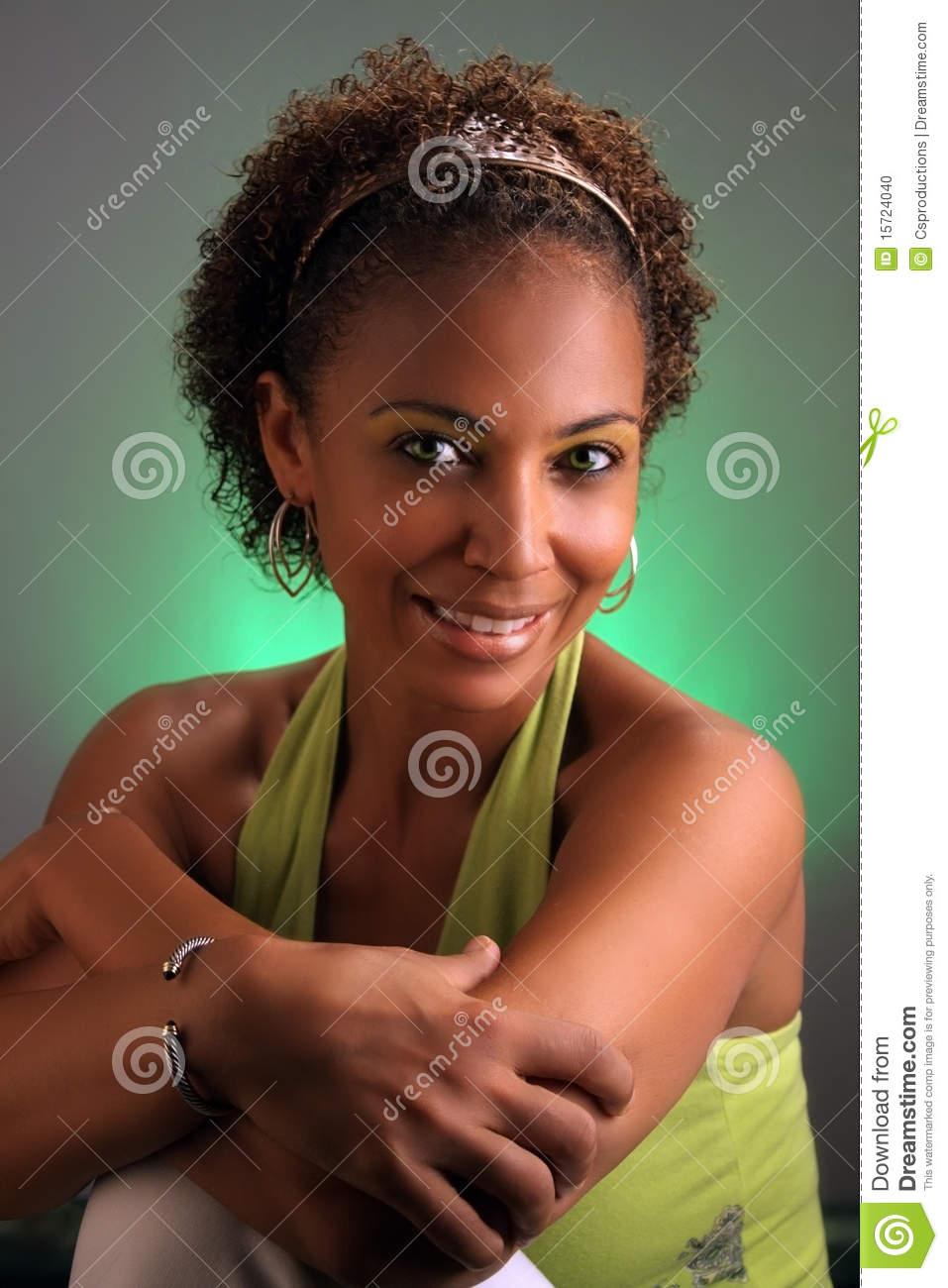 beautiful mature black woman headshot (3) stock photo - image of