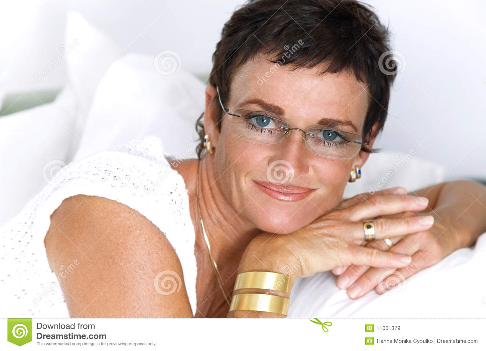 Beautiful mature woman smiling royalty free stock images image