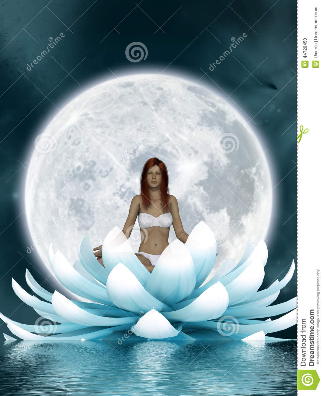 Beautiful Meditation Stock Illustration Image Of Relax