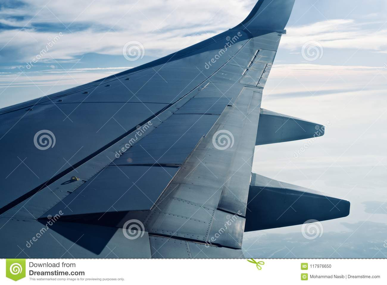 Download Parts Of An Airplane Wing Unique Photo Stock Photo - Image of aircraft, photo: 117976650
