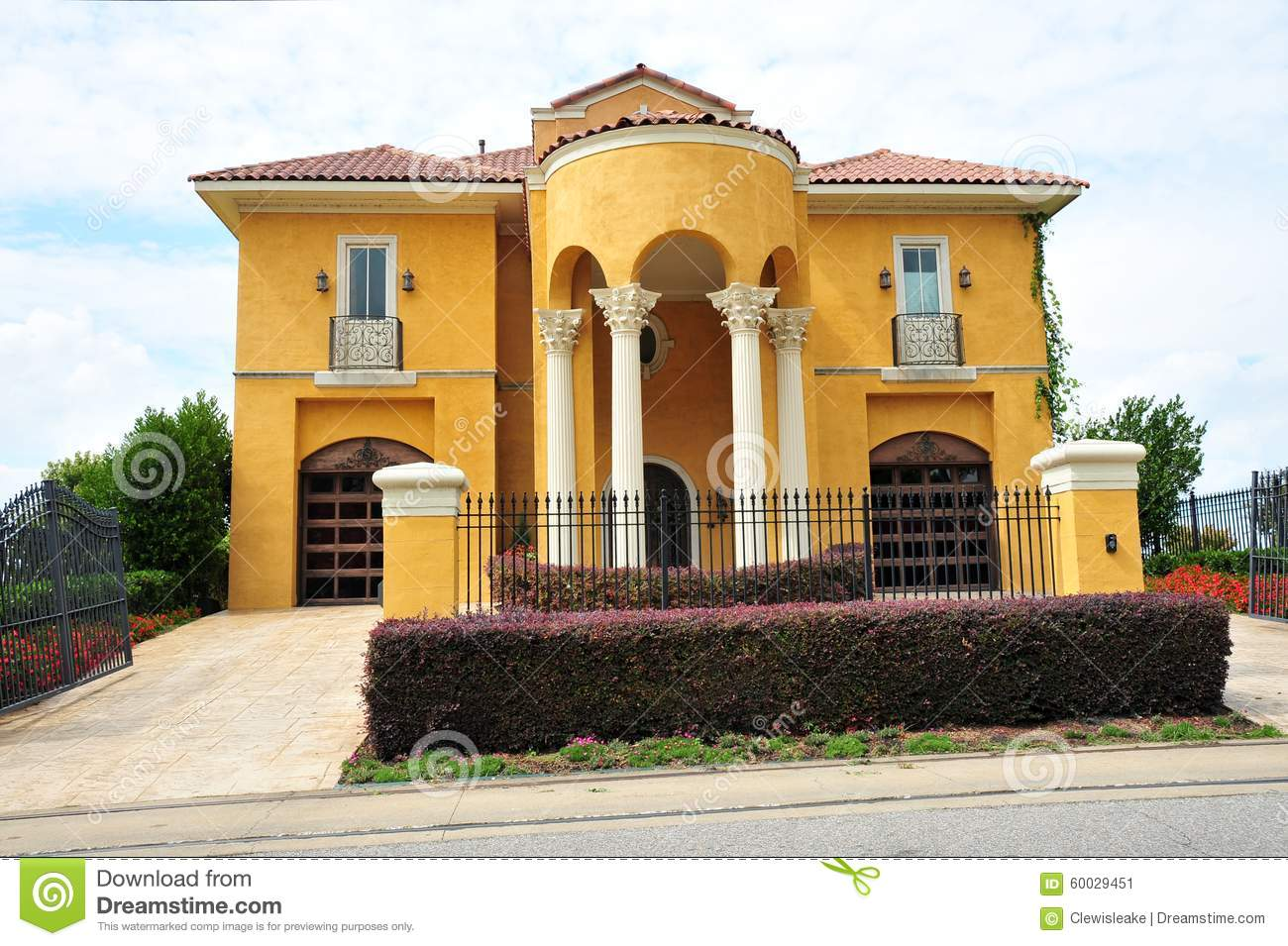 Beautiful Mexican Ranch Style Villa Mansion Stock Photo