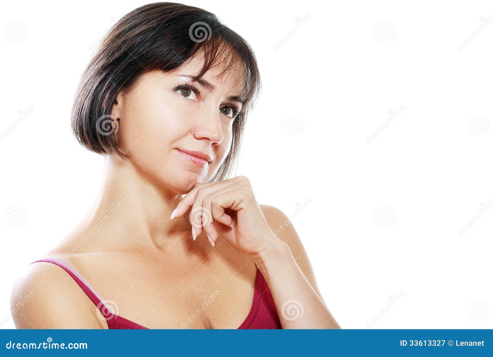 Middle aged brunette estefania
