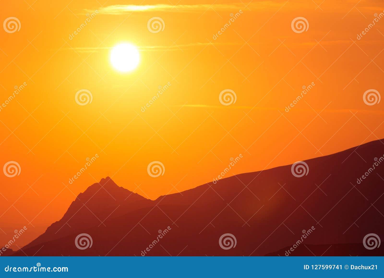 A Beautiful Minimalist Landscape During The Sunrise Over
