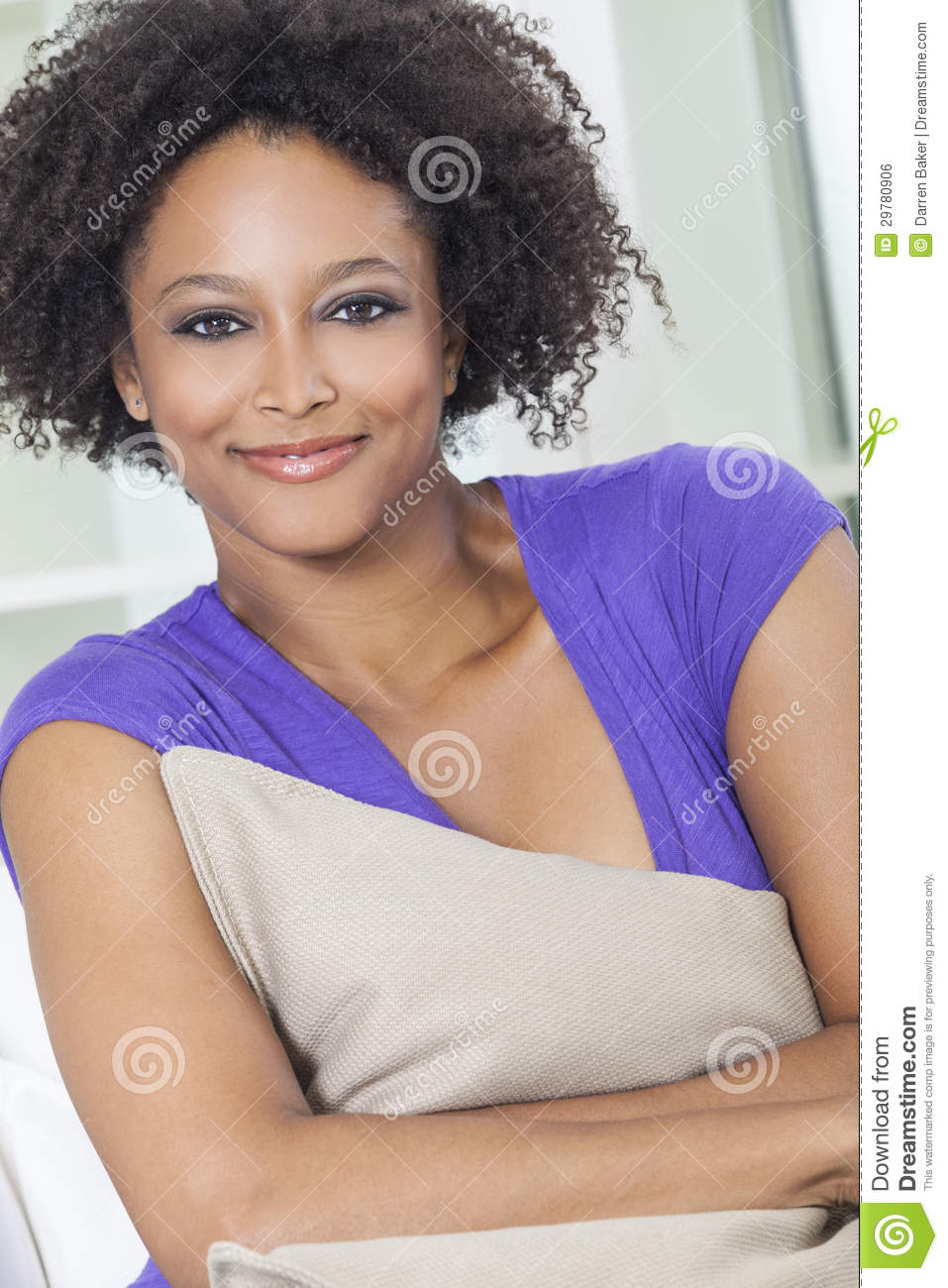 Happy Mixed Race African American Girl Royalty Free Stock