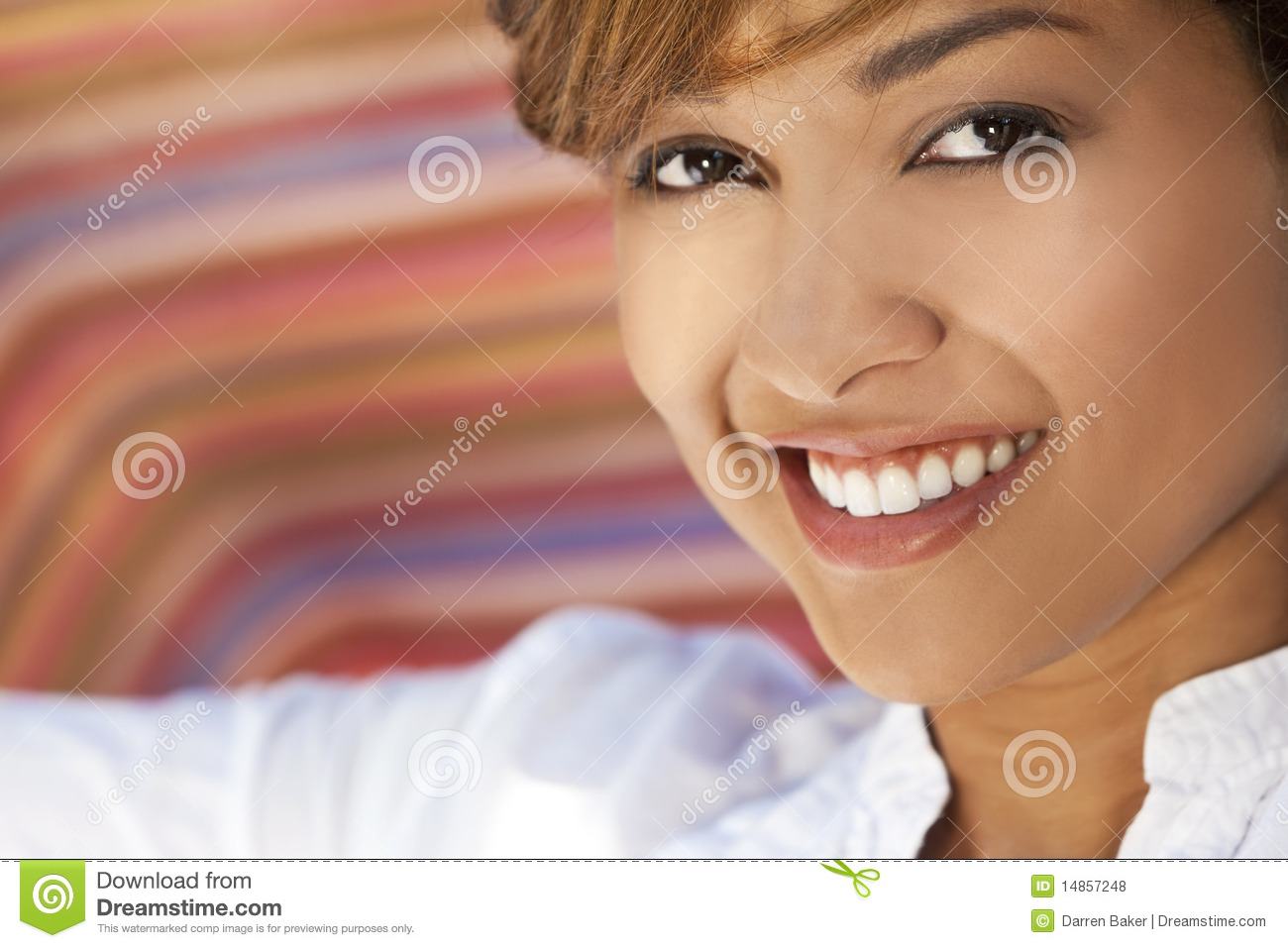 Beautiful Mixed Race Woman With Perfect Teeth