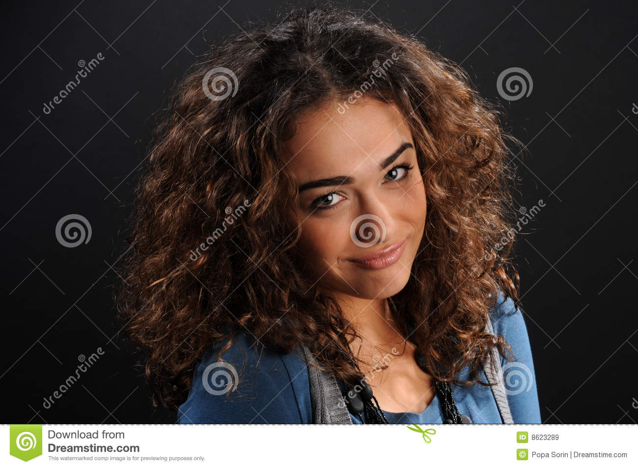 Beautiful model with curly hair royalty free stock images image