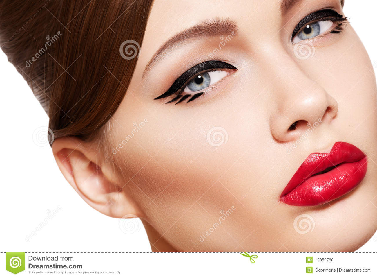 beautiful model face glamour make up amp sexy lips stock