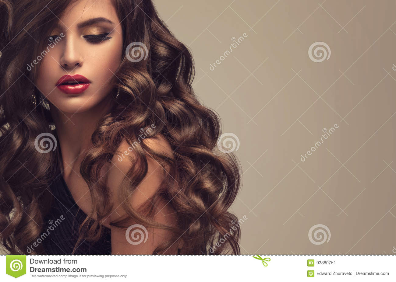 Voluminous Hairstyles For Long Hair - Royalty free stock photo