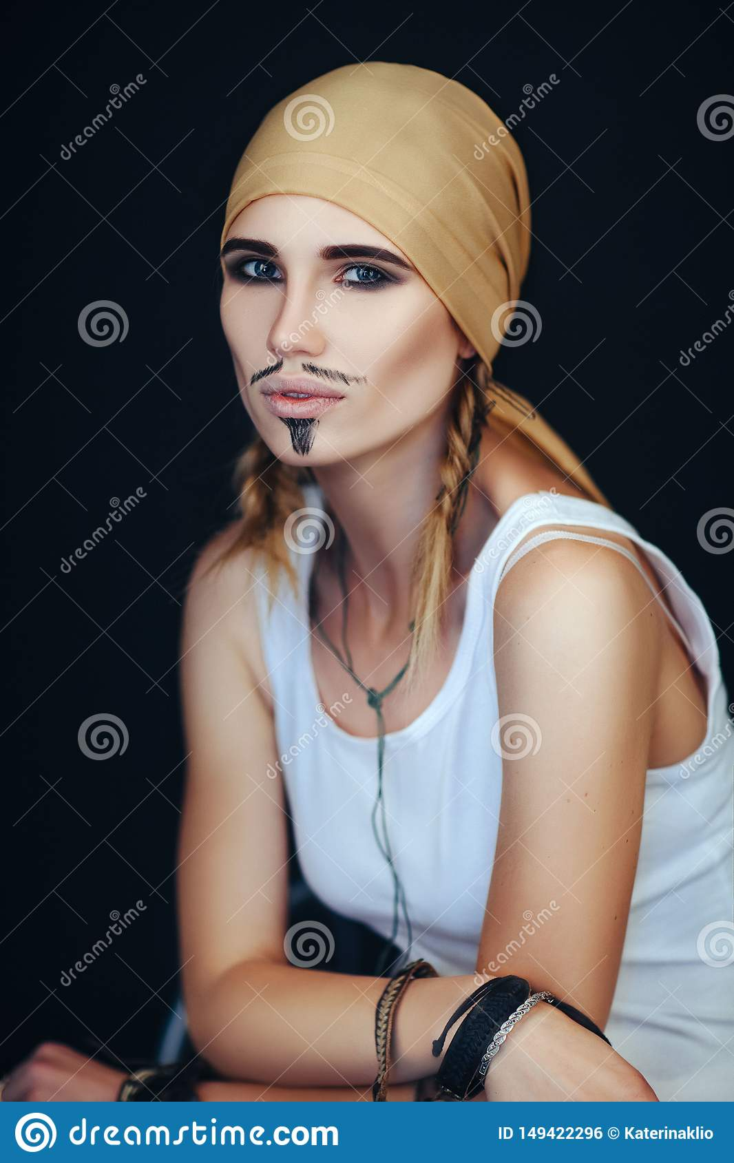 Man`s pirate style for a woman