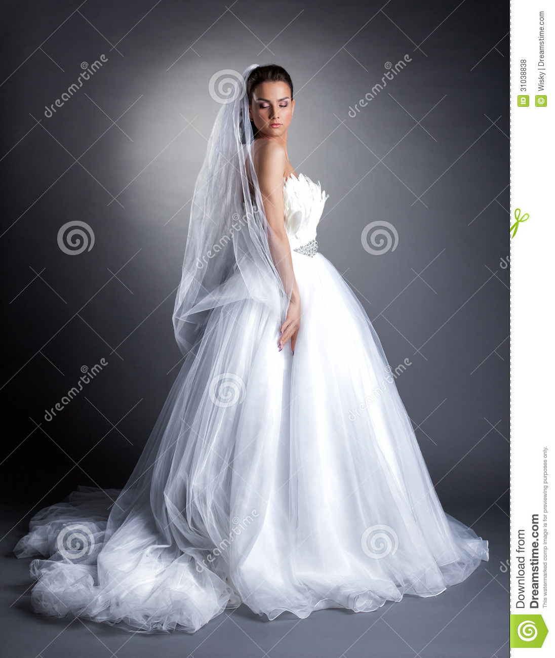 In white wedding dress royalty free stock photos long hairstyles