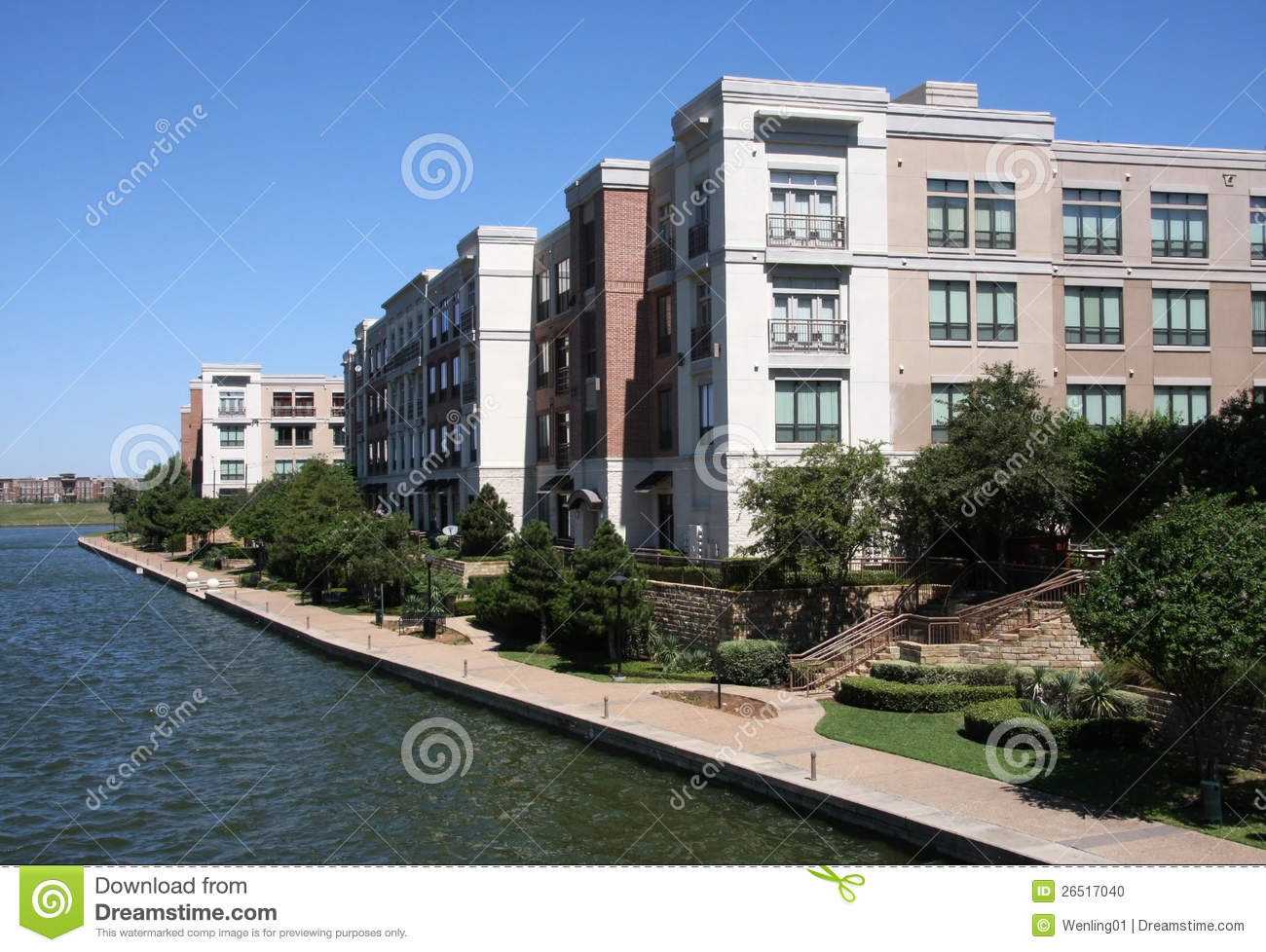 Beautiful Modern Apartment Building Stock Photo