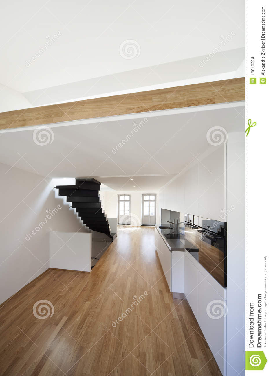 Beautiful Modern Apartment, Loft Duplex Stock Images - Image: 19010294