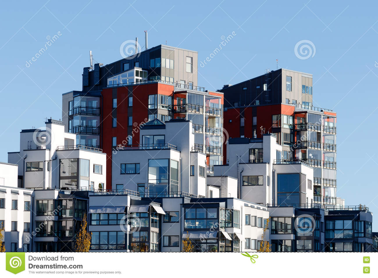 Beautiful Modern Apartments In Sweden Stock Photo Image