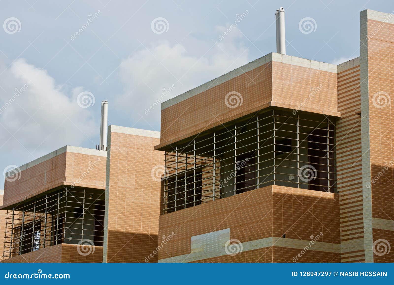 Modern architectural building unique photo