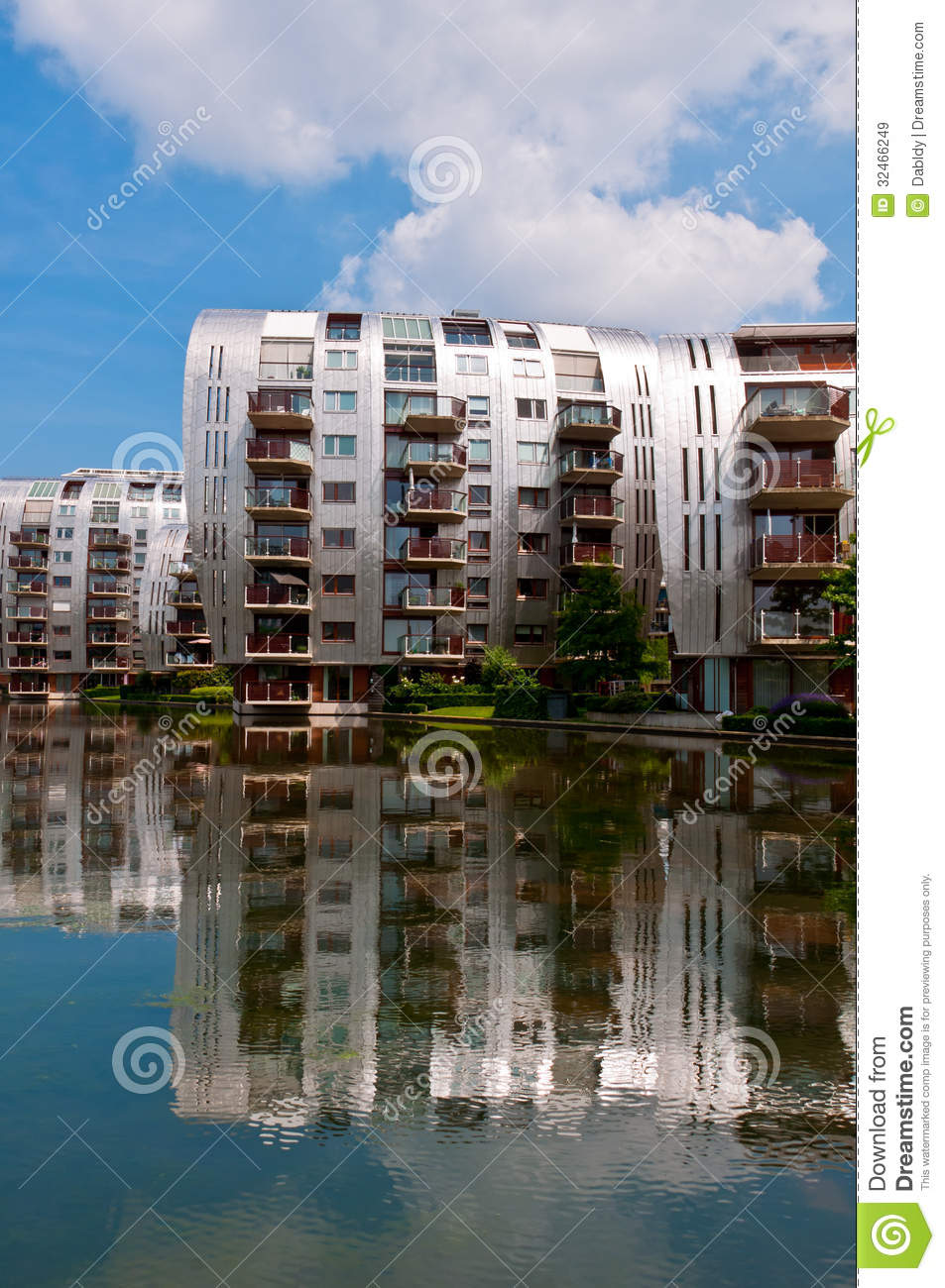 Beautiful Modern Architecture Residential Apartment Buildings Royalty ...