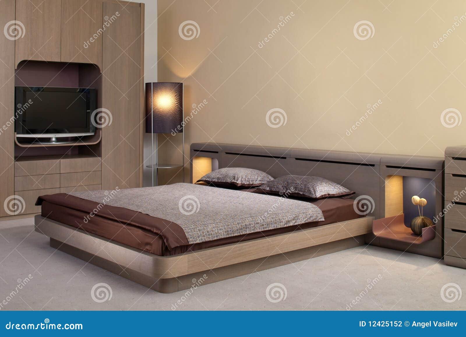 Beautiful and modern bedroom interior design stock for Beautiful bedroom interior