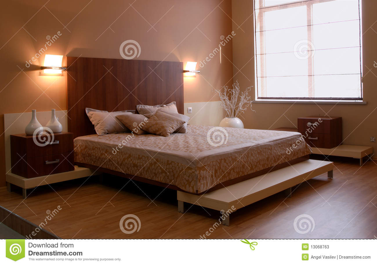 Beautiful and modern bedroom interior design stock photos for Beautiful bedroom interior
