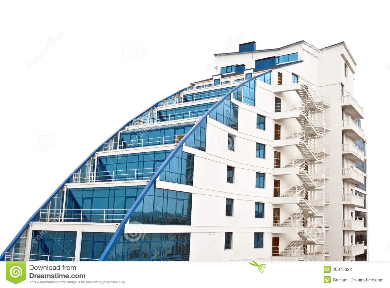 Beautiful modern building stock photography image 20876322 for Beautiful modern buildings