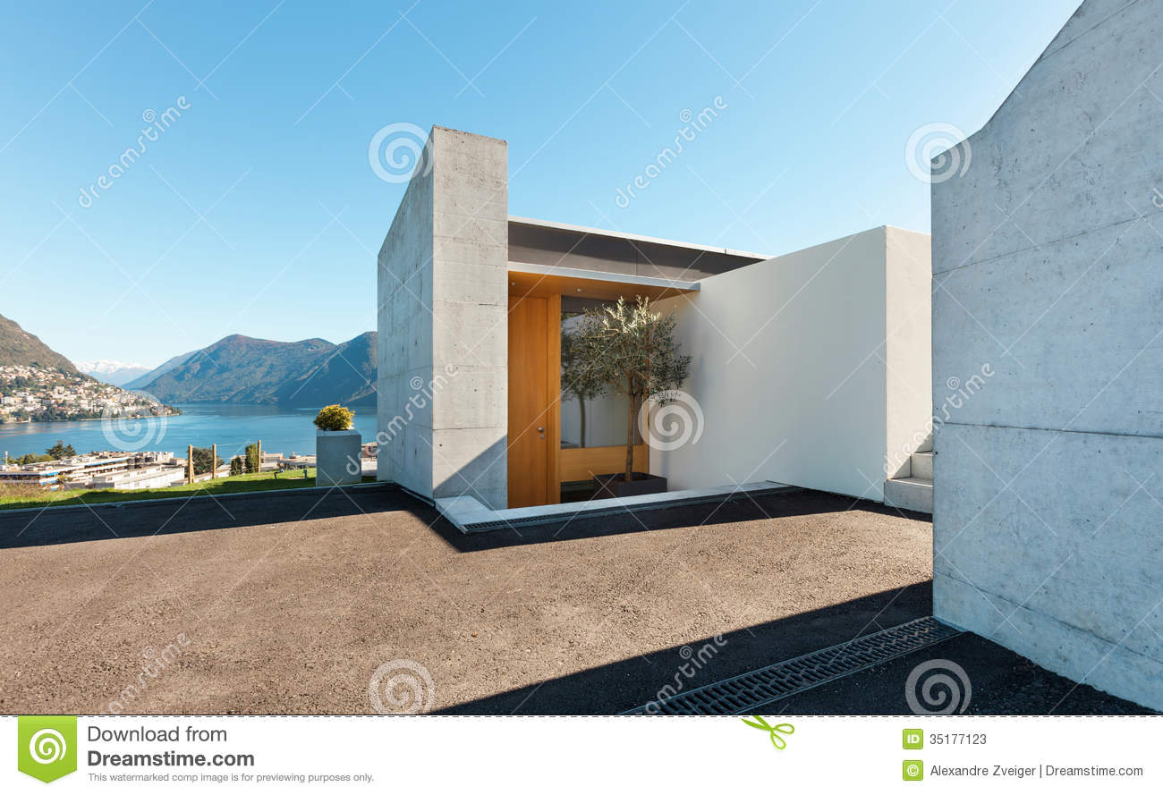 Beautiful modern house in cement
