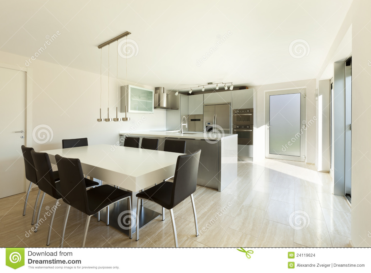 Beautiful modern house interior stock photo image 24119624 for Casas modernas interiores