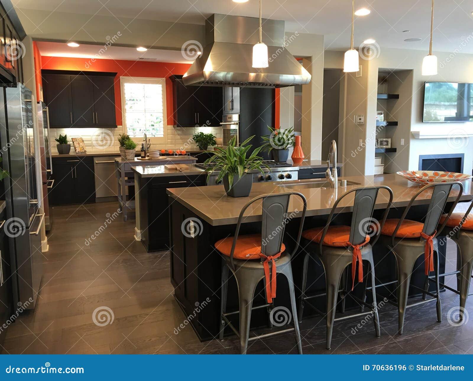 Orange walls kitchen couchable co