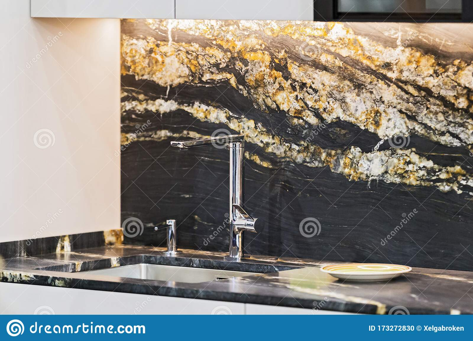 Beautiful Modern Kitchen Design Kitchen Faucet Black And Gold