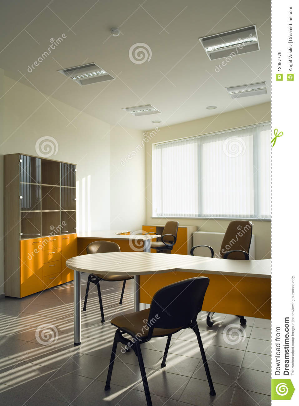 beautiful and modern office interior design royalty free