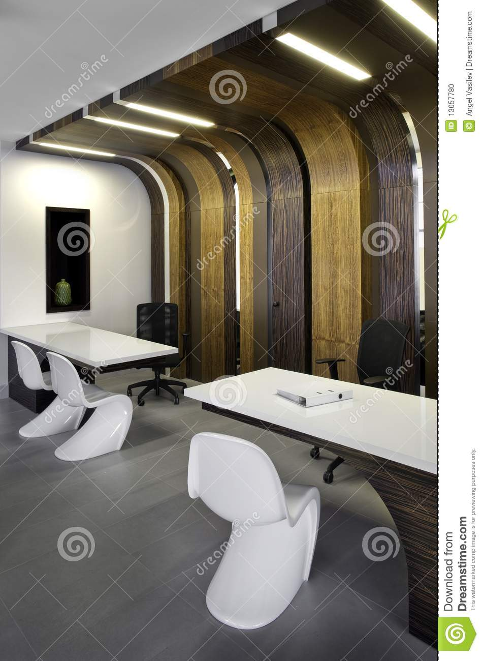 Beautiful and modern office interior design stock photo for Beautiful modern office design