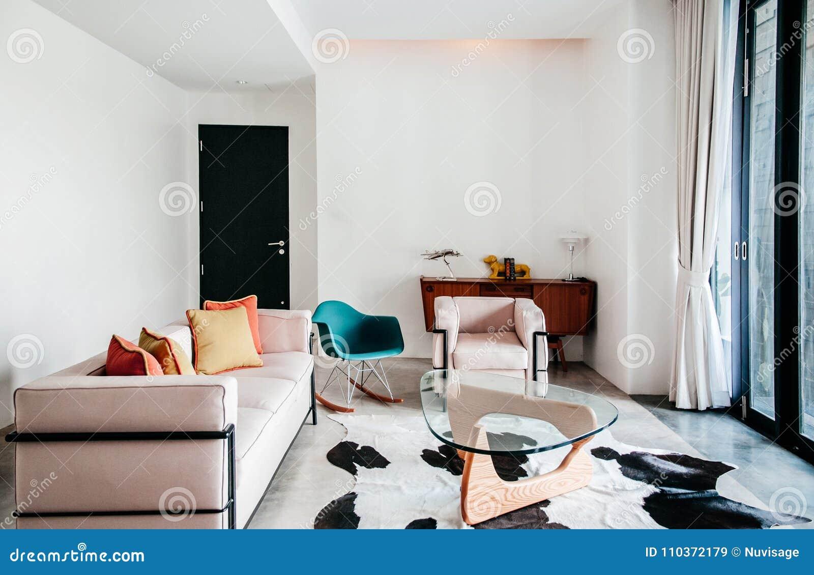 Beautiful Modern Retro Furniture Armchair Sofa Table Interior Wi ...