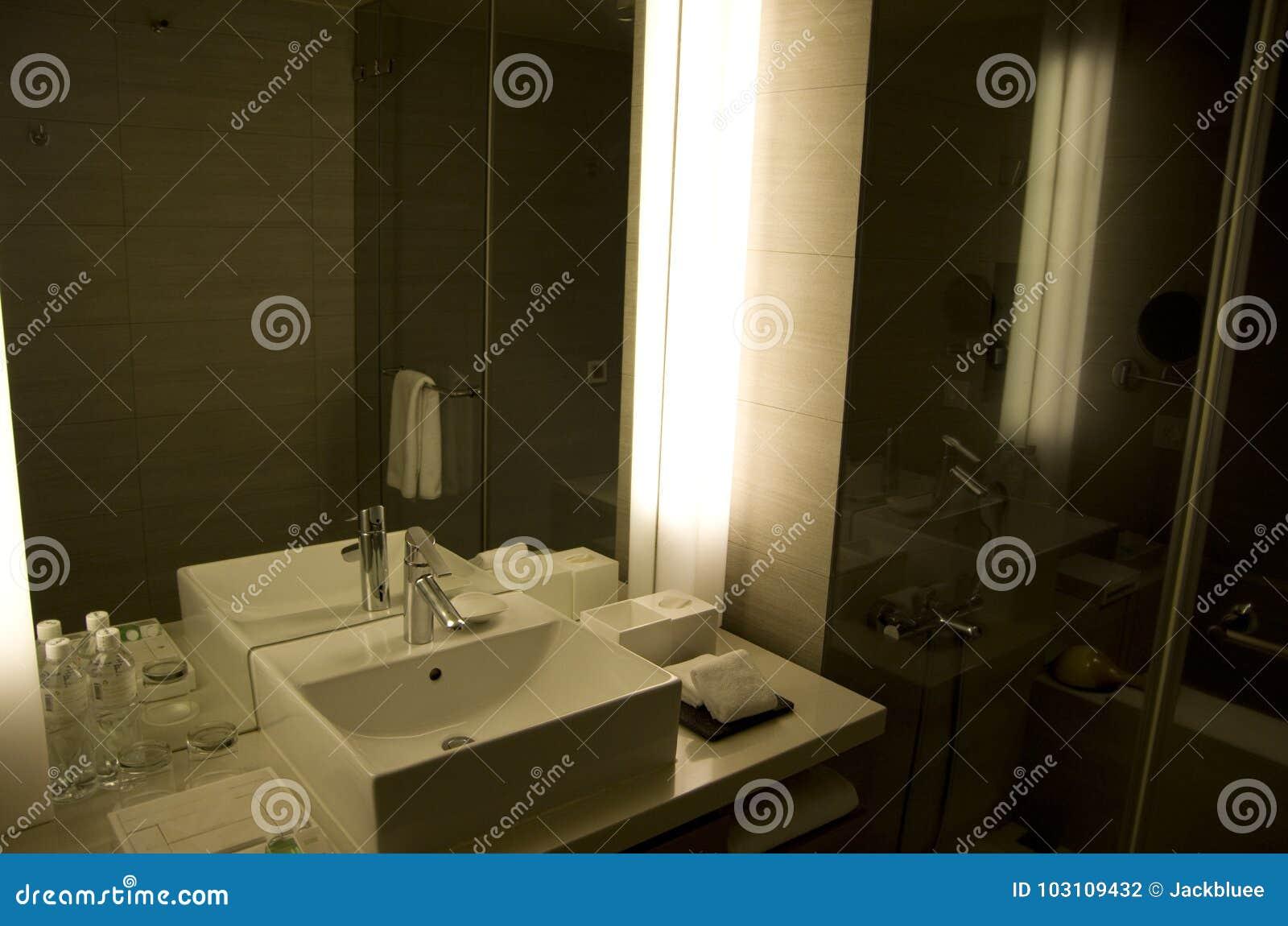 Modern Fancy Hotel Room Bathroom Editorial Photography