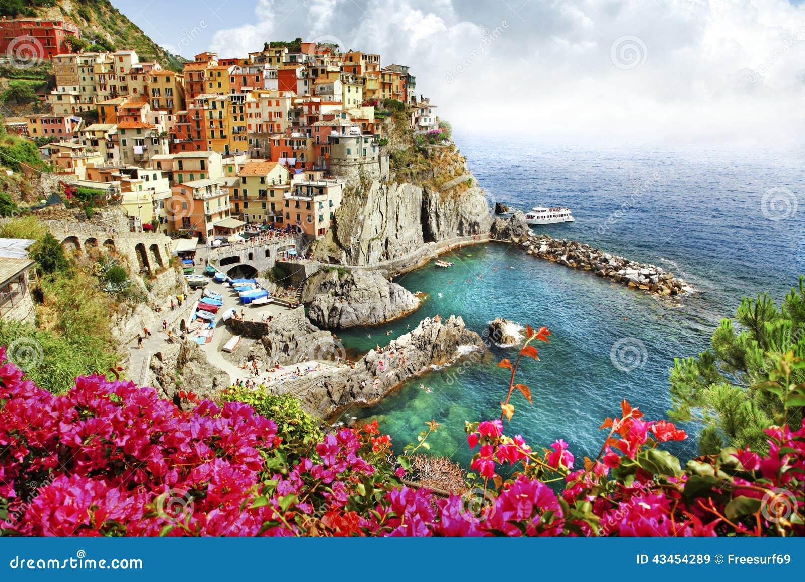 Beautiful Monarola Village Cinque Terre Editorial Stock