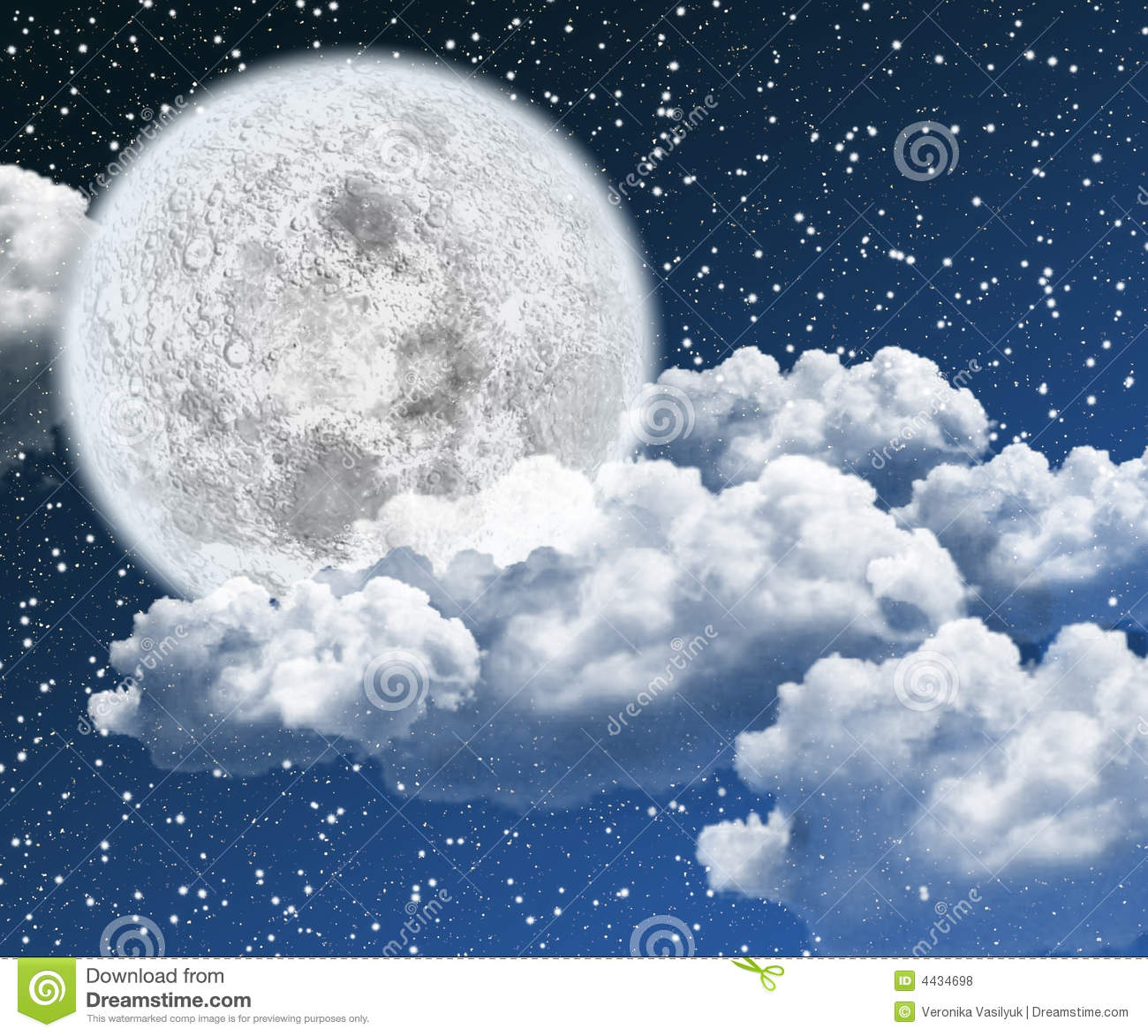 Beautiful Moon Night Royalty Free Stock Photos - Image ...