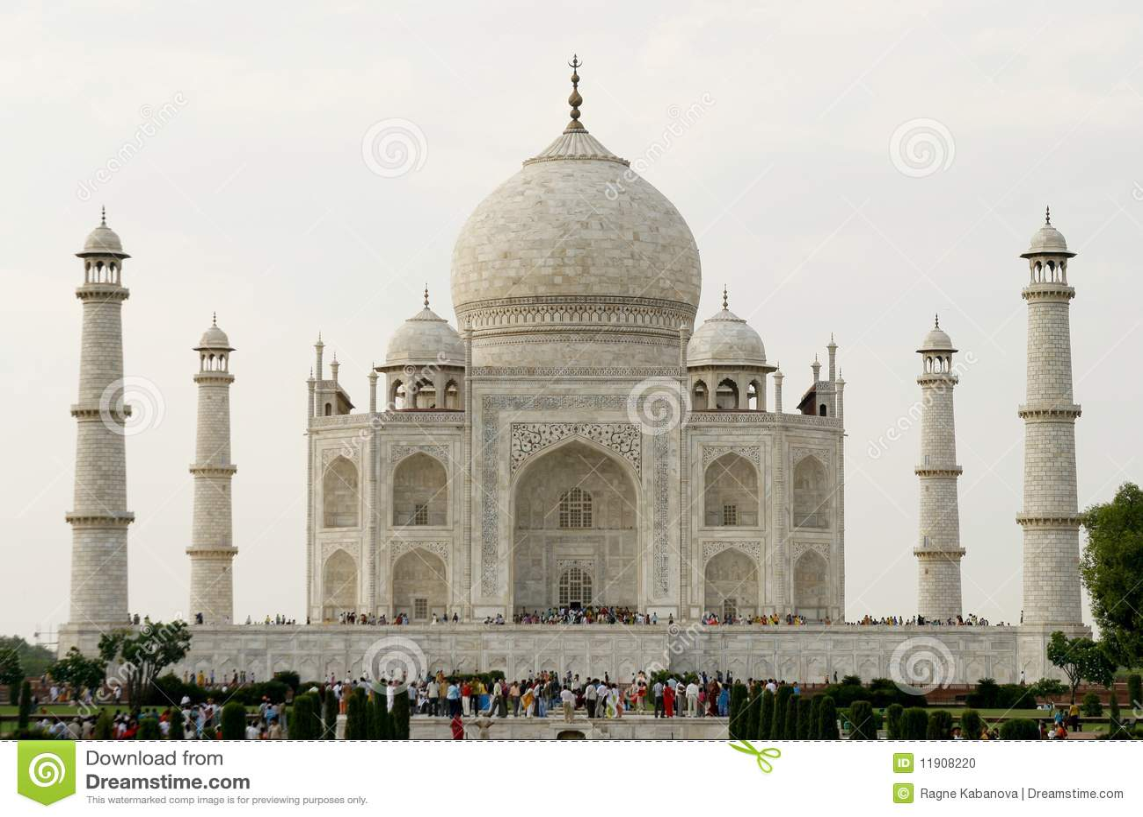 Beautiful Mosque Taj Mahal Agra India Stock Photo