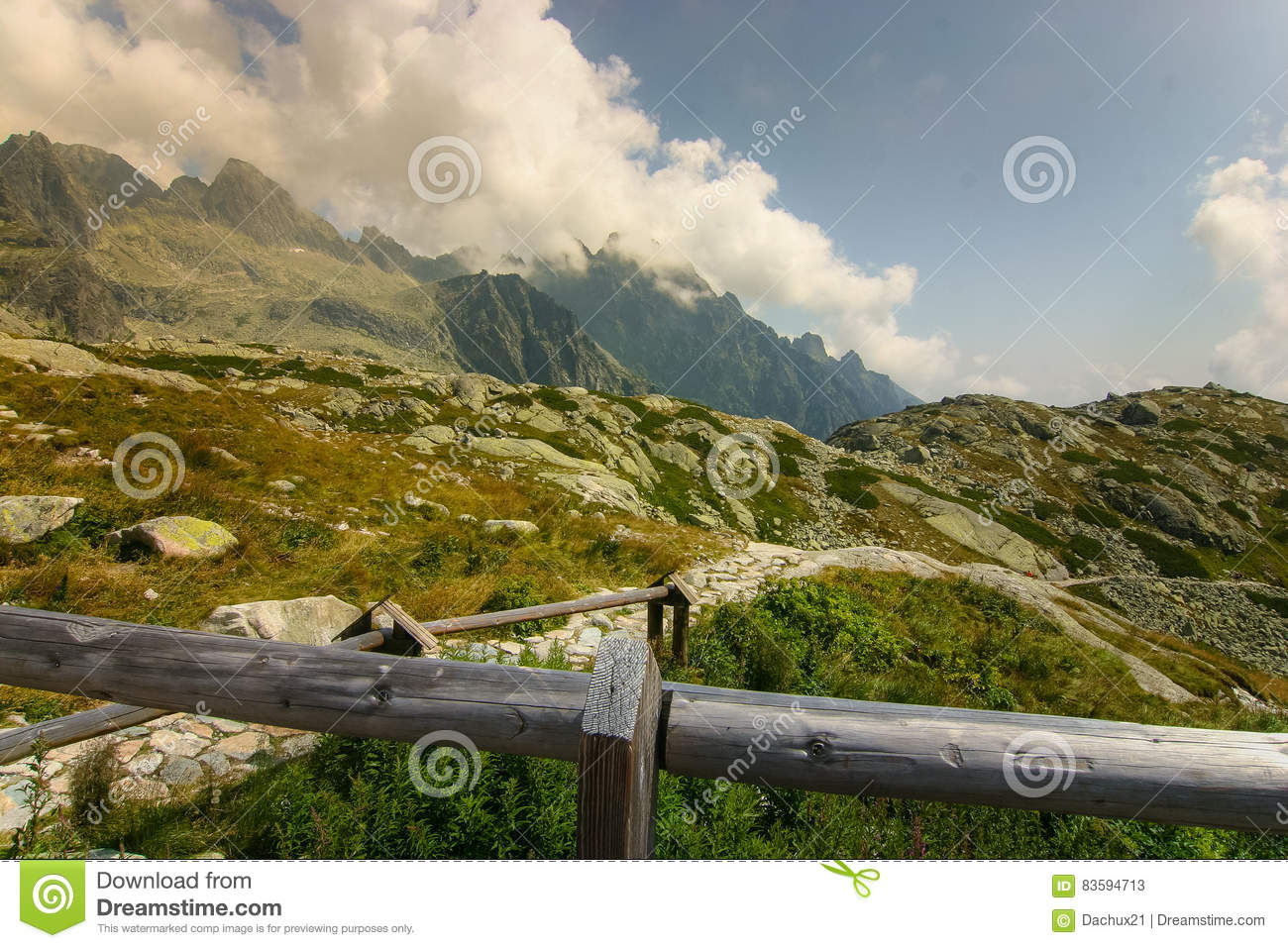 A beautiful mountain landscape above tree line