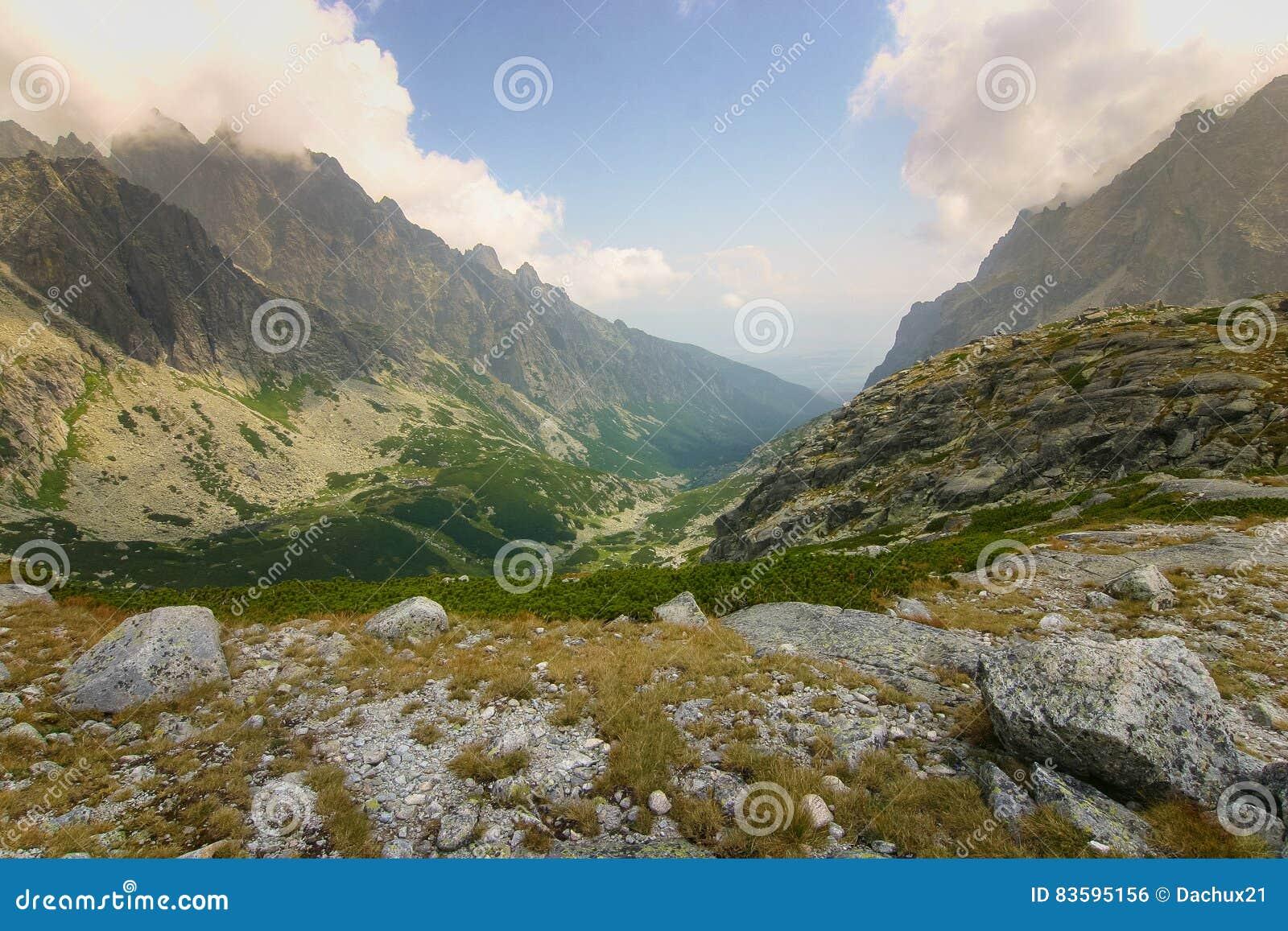 A beautiful mountain landscape above tree line