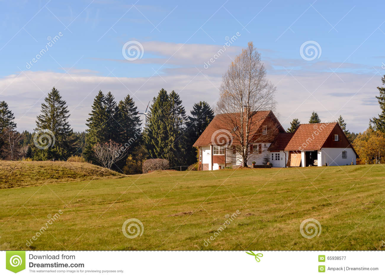 Beautiful mountain landscape mountains in germany small for Cottage in the mountains