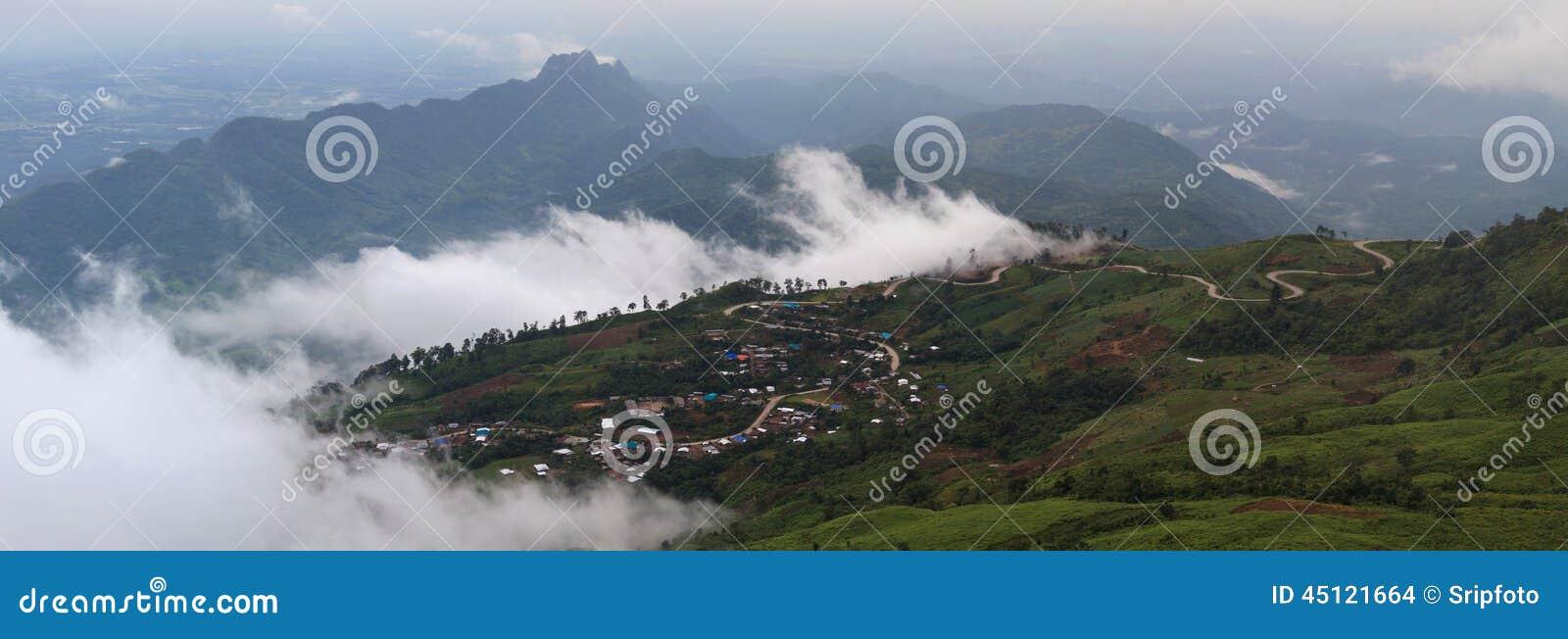 Beautiful mountain scenery in Phutabberk Phetchabun, Thailand