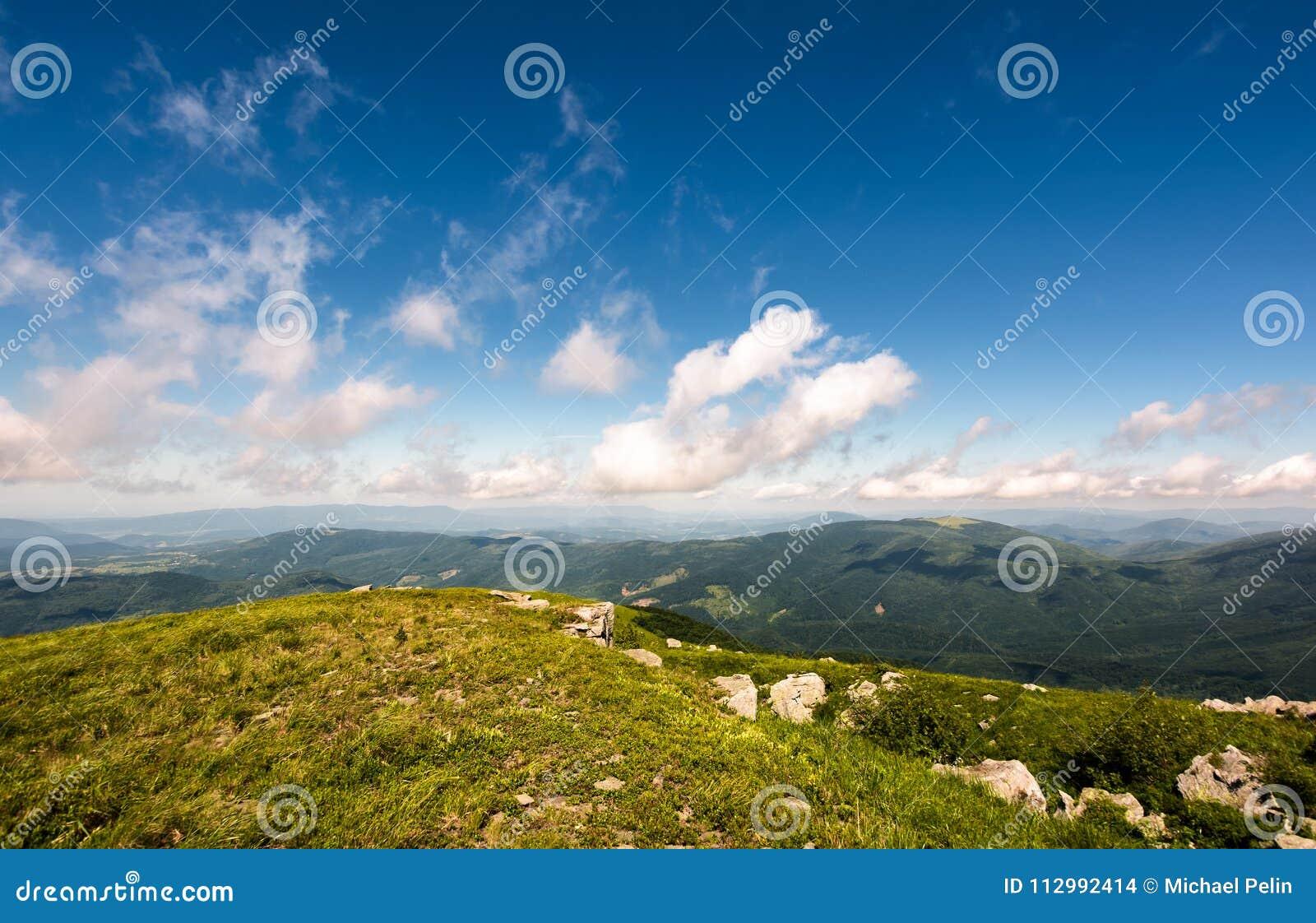 Beautiful mountainous landscape in summer