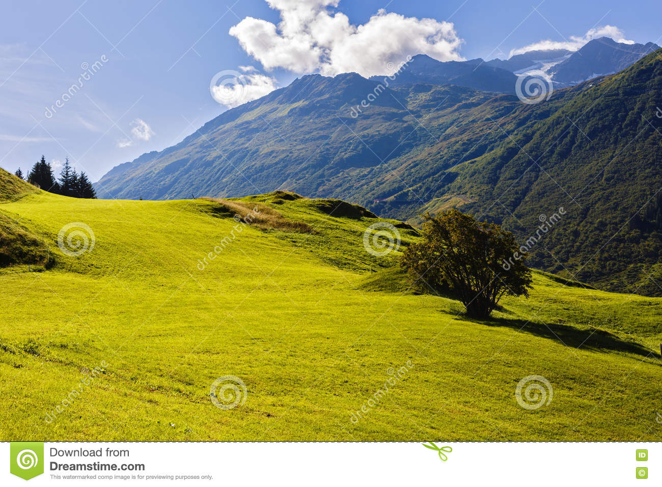 Beautiful mountains landscape in Alps