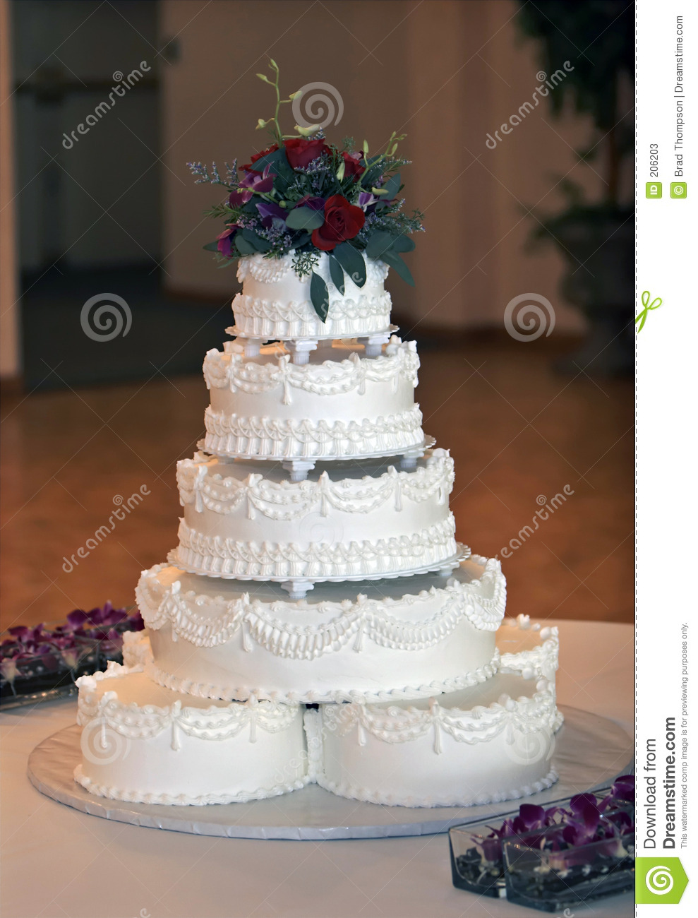 Beautiful Multi Tiered Wedding Cake Stock Photos Image