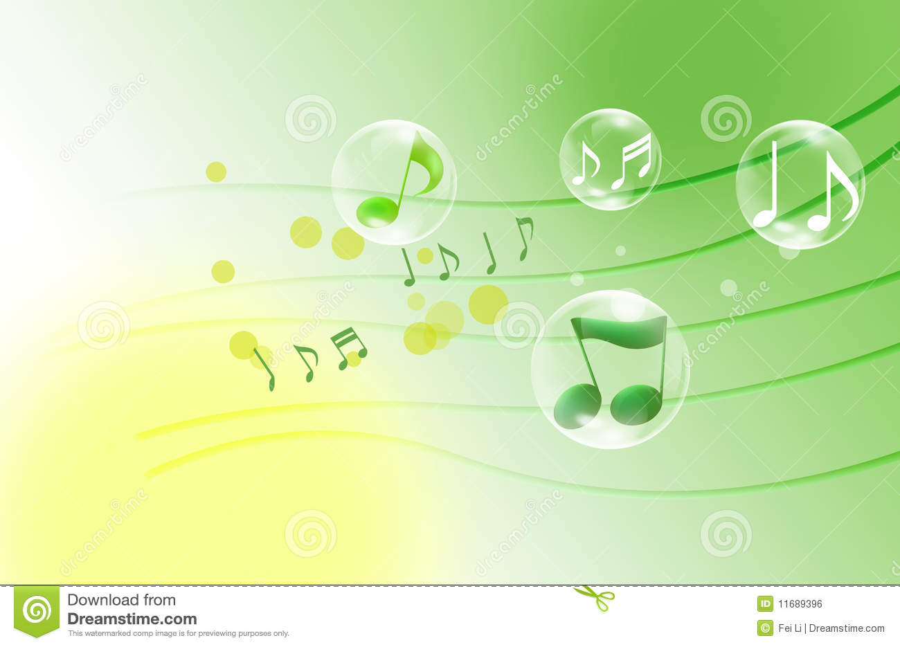 Beautiful Musical Notes Stock Illustration. Illustration
