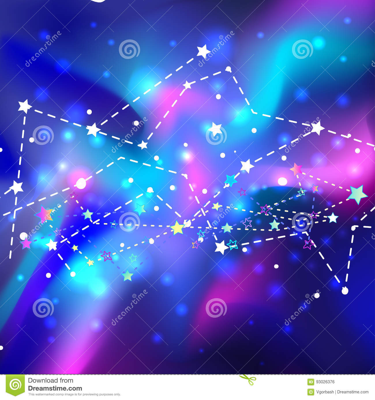 beautiful mystic galaxy vector cosmic background outer space digital colorful illustration universe astrology astronomy hipster 93026376