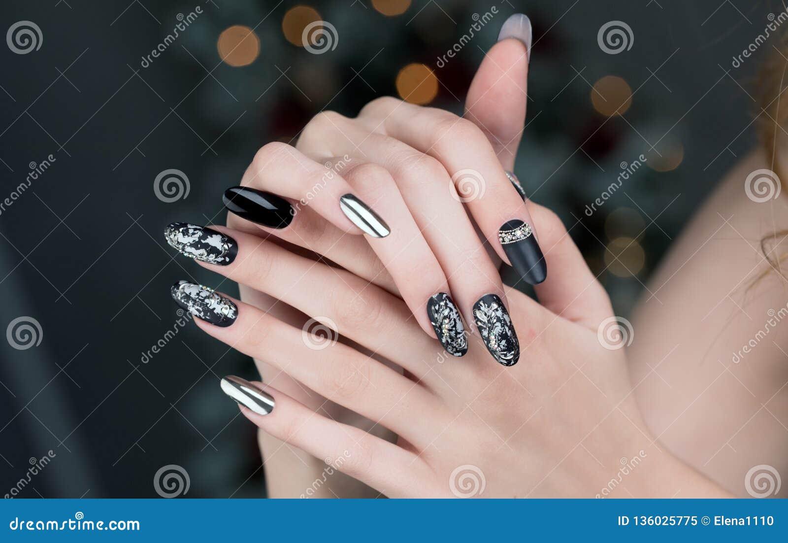 Beautiful Nail Art Manicure Stock Image Image Of Style Nailish 136025775