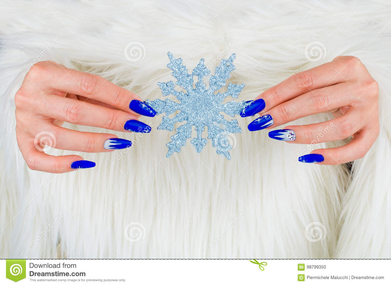 beautiful nail decorations for your christmas and new year parties stock photo image of light elsa 98799350 https www dreamstime com stock photo beautiful nail decorations your christmas new year parti nails decorated blue color bright stars to celebrate image98799350