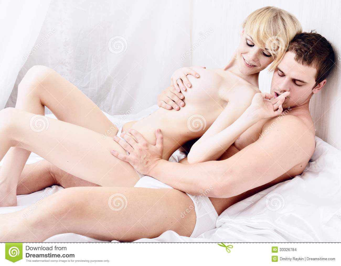 Beautiful people having sex