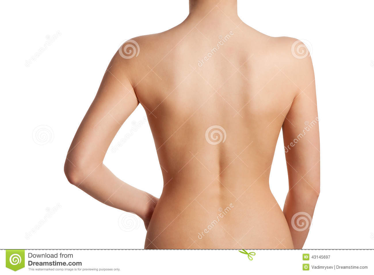 Beautiful And Naked Female Back View Stock Image - Image -3656