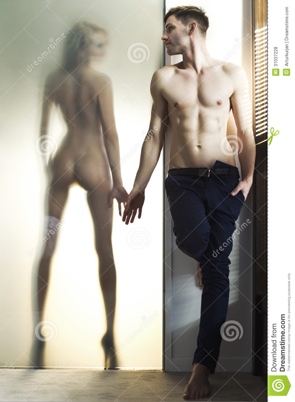 Beautiful Naked Woman And Handsome Man Royalty Free Stock -7011