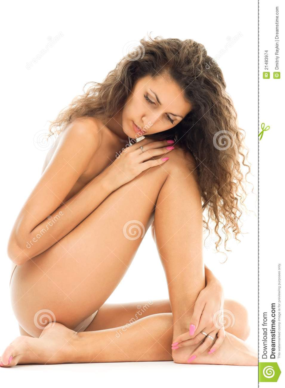 Beautiful Naked Woman In Sad Mood Stock Photo - Image -1475