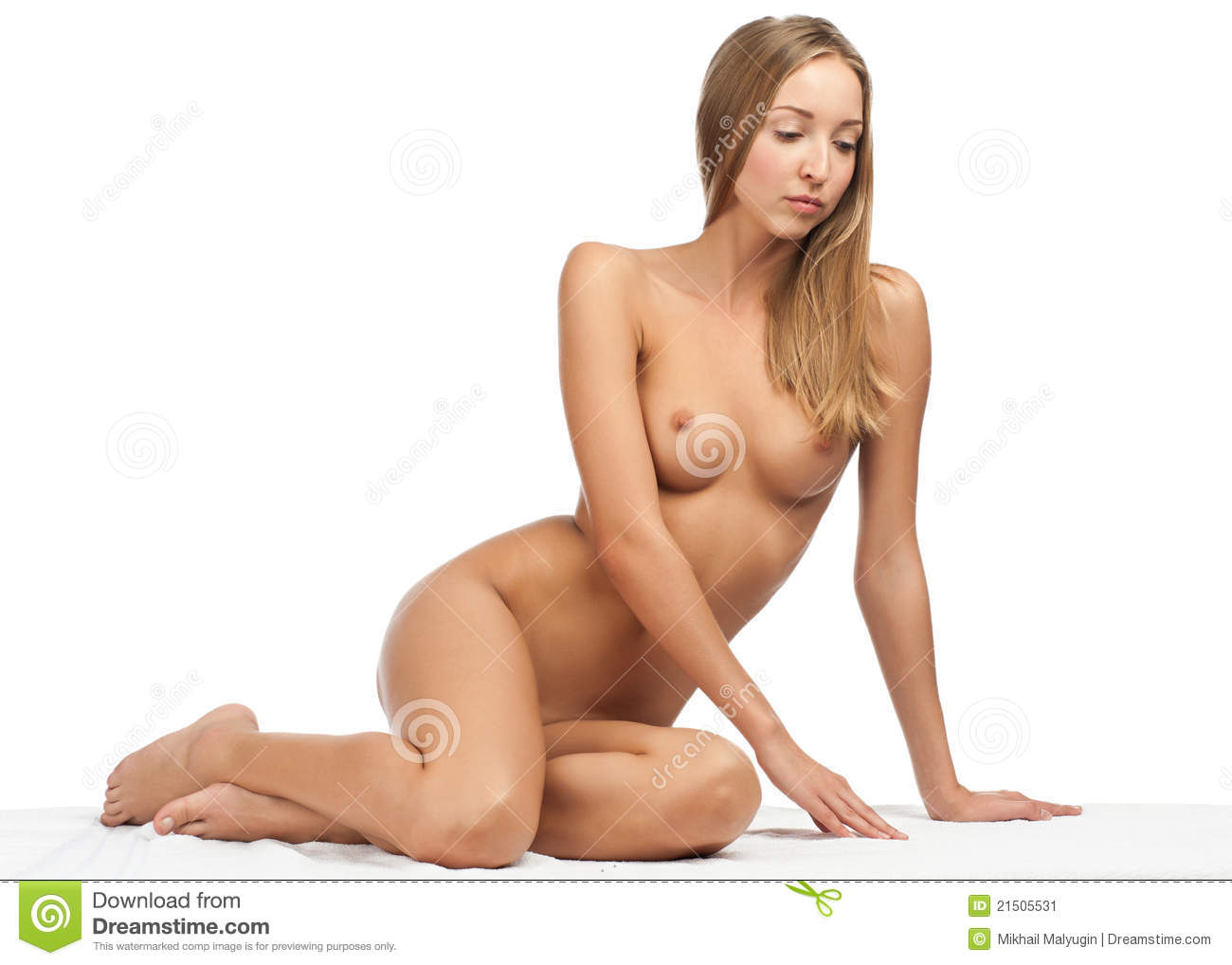 Beautiful Naked Woman With Slim Body Stock Image - Image -3653
